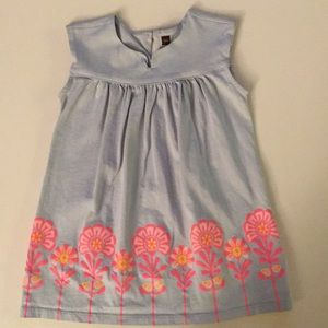Tea Collection Floral Dress in Gray size 18-24mos